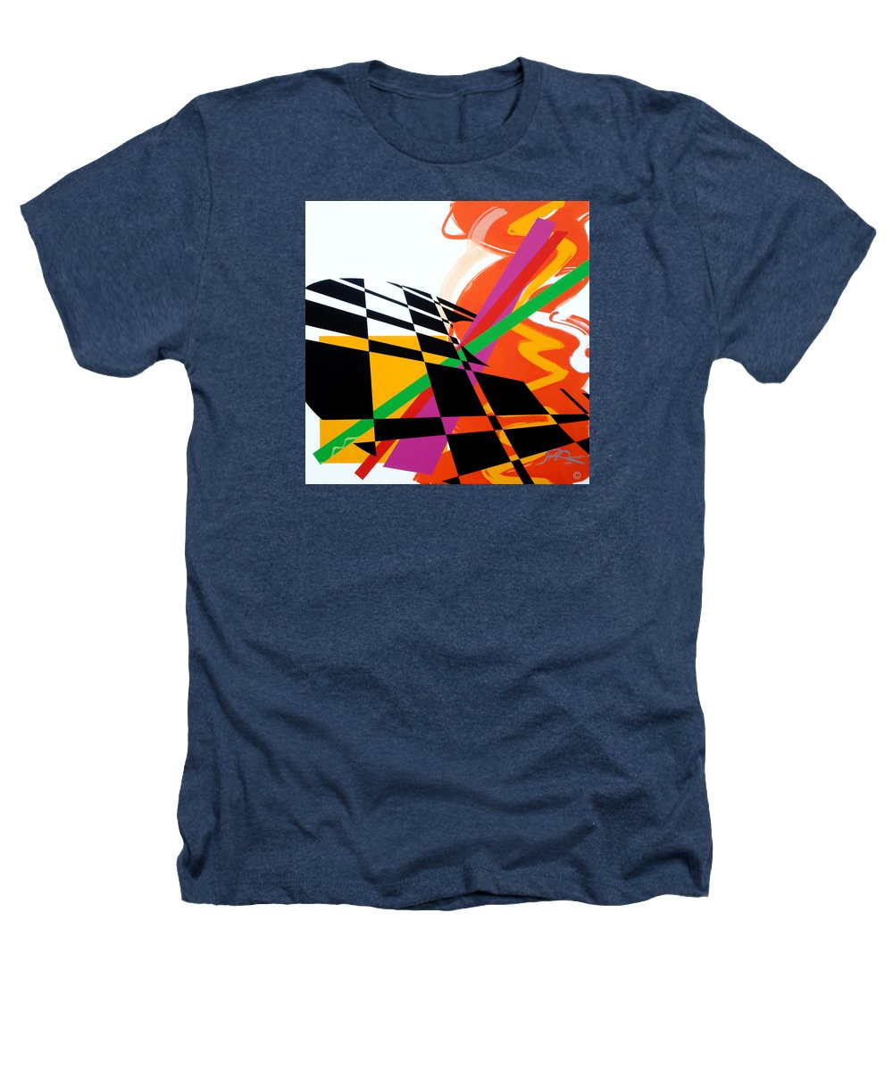 Abstract Heathers T-Shirt featuring the painting Red Movement by Jean Pierre Rousselet