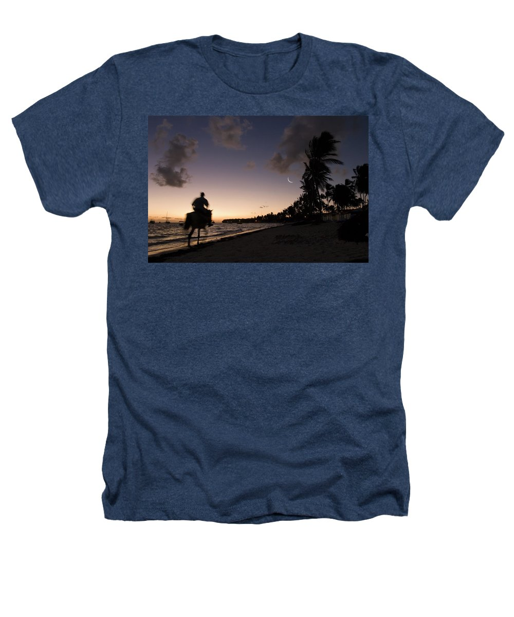 3scape Photos Heathers T-Shirt featuring the photograph Riding On The Beach by Adam Romanowicz