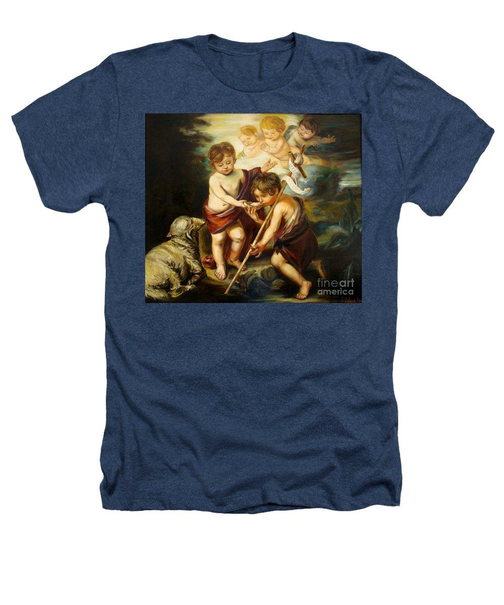 Classic Art Heathers T-Shirt featuring the painting Saint John Baptist by Silvana Abel