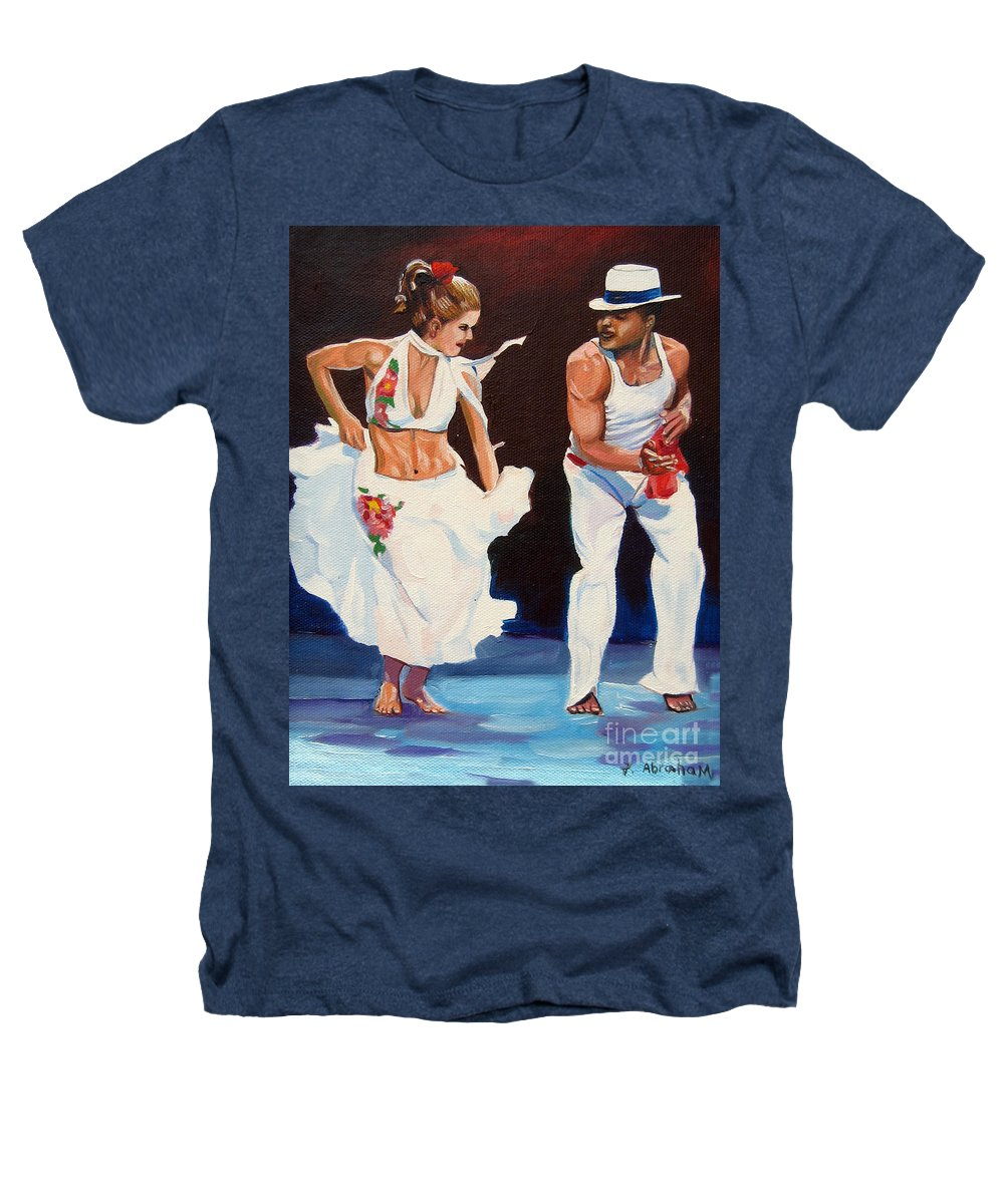 Dancing Heathers T-Shirt featuring the painting Salsa by Jose Manuel Abraham