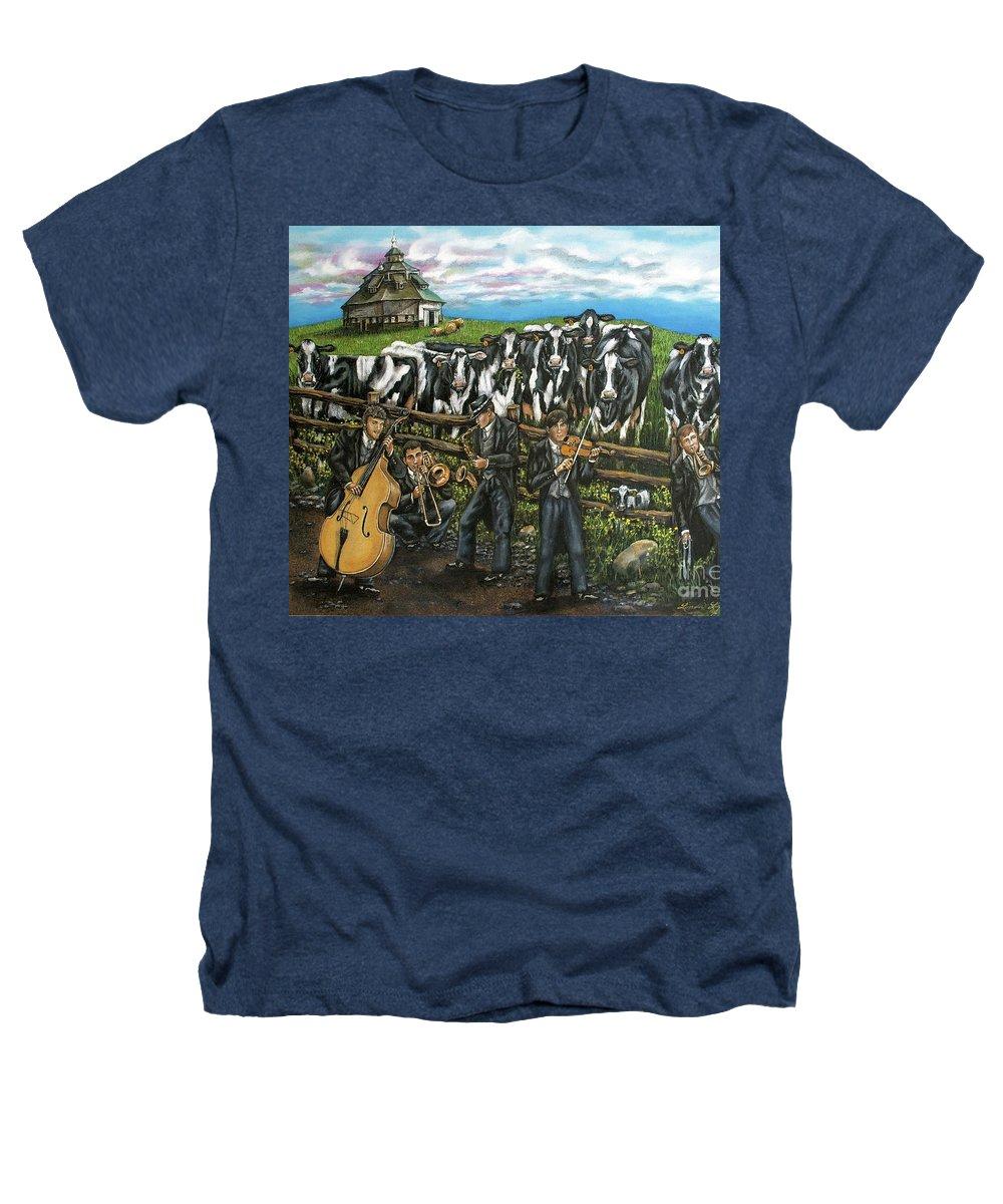Linda Simon Heathers T-Shirt featuring the painting Semi-formal by Linda Simon
