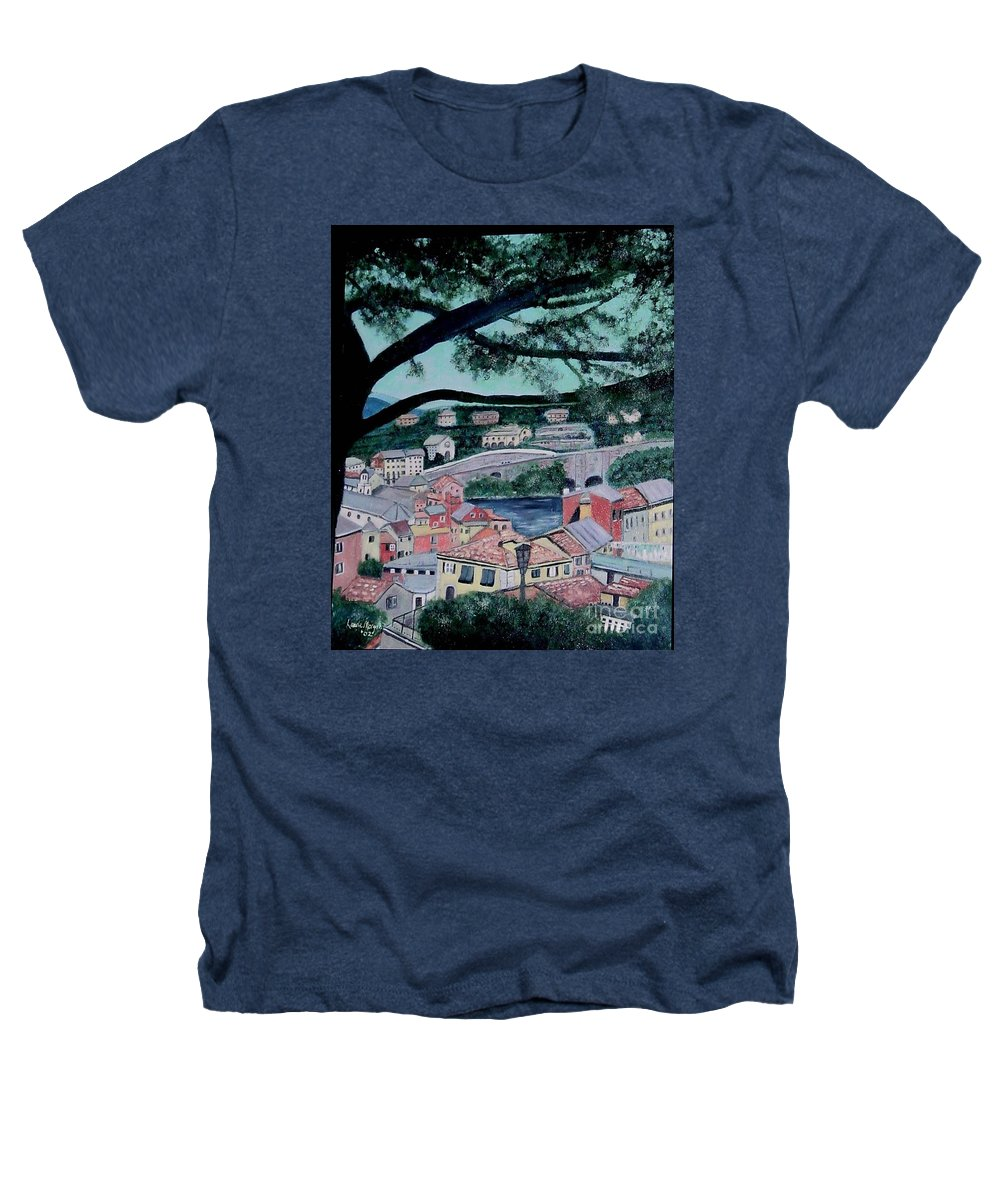 Italy Heathers T-Shirt featuring the painting Sestri Levante by Laurie Morgan