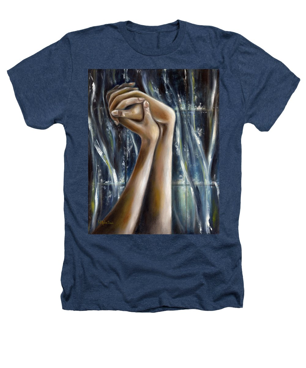 Blue Heathers T-Shirt featuring the painting Snow Light by Hiroko Sakai