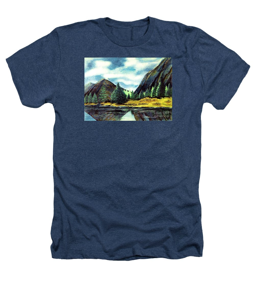 Fine Art Heathers T-Shirt featuring the painting Solitude by Patricia Griffin Brett