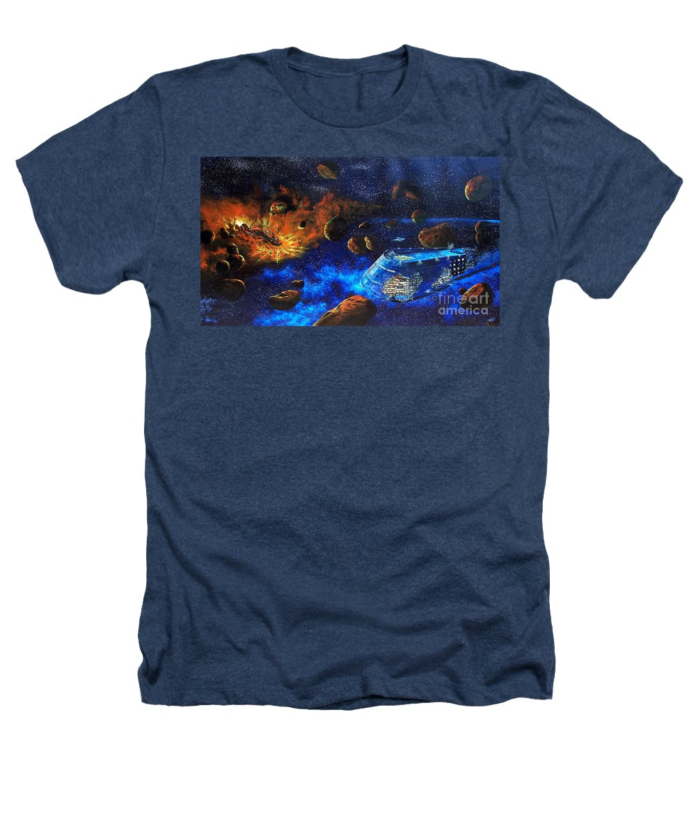 Future Heathers T-Shirt featuring the painting Spaceship Titanic by Murphy Elliott
