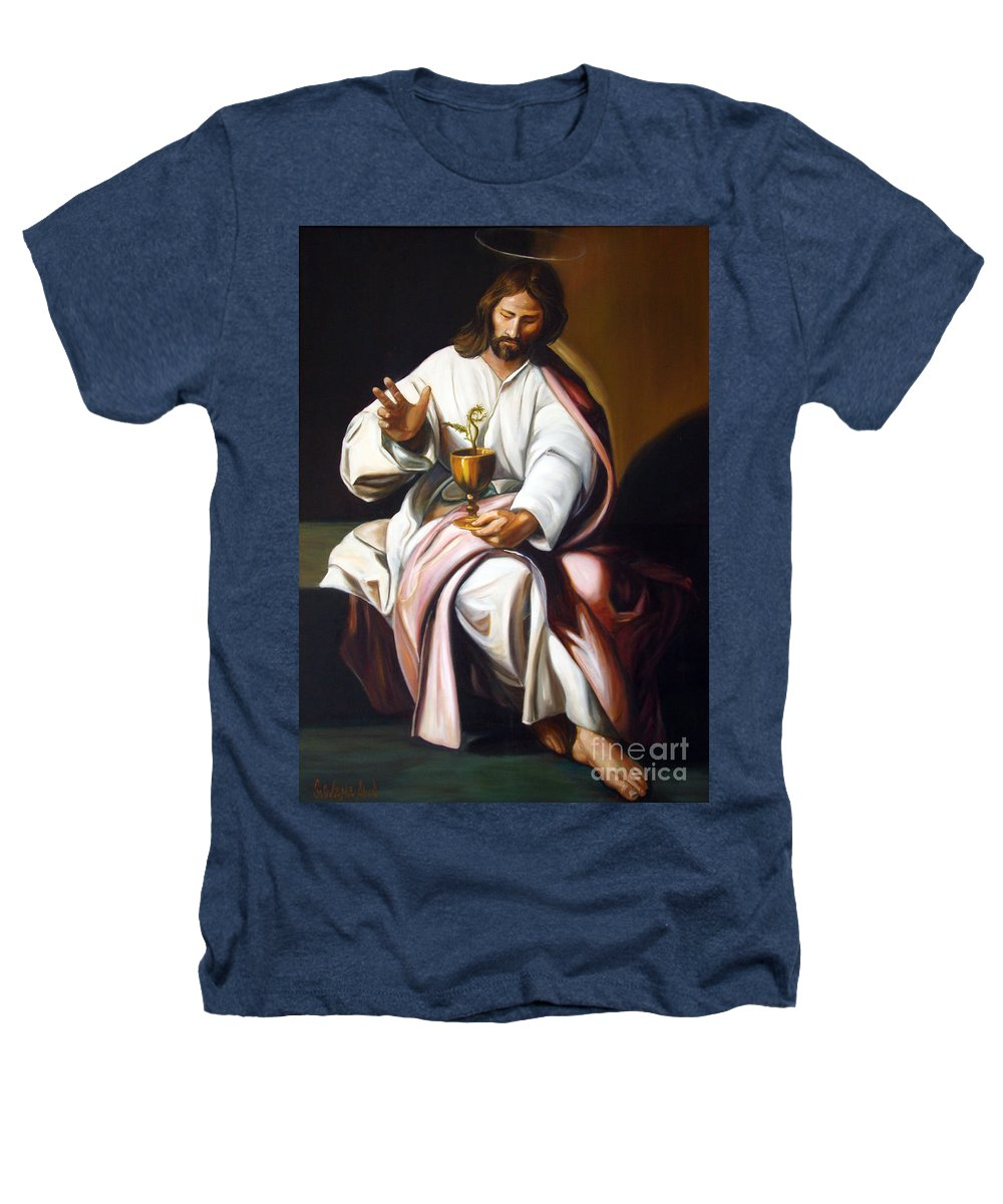 Classic Art Heathers T-Shirt featuring the painting St John The Evangelist by Silvana Abel