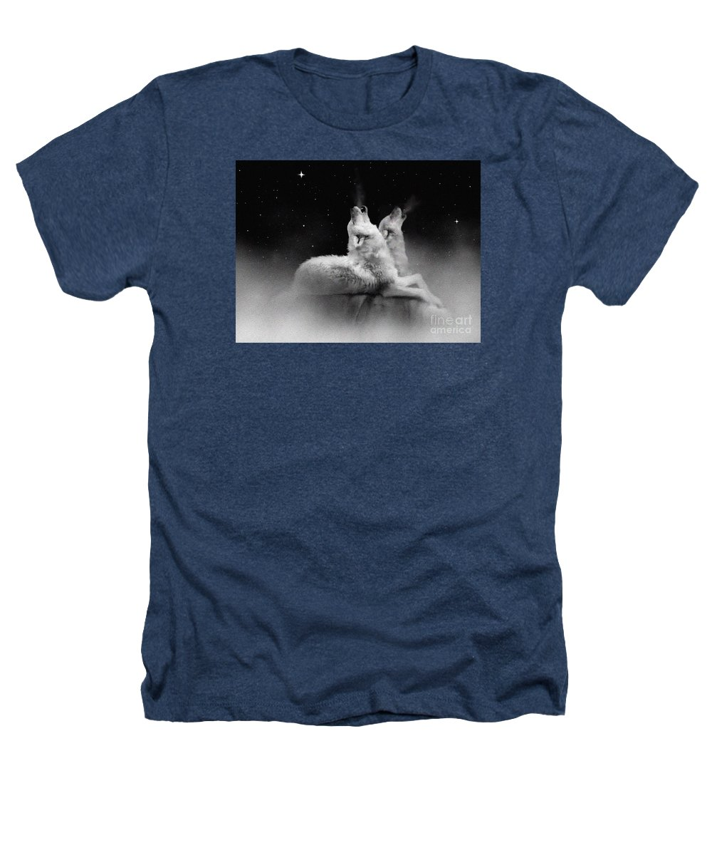 Wolf Heathers T-Shirt featuring the painting Star Talkers by Robert Foster