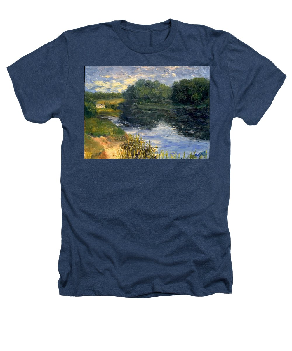 Landscape Heathers T-Shirt featuring the painting Summer At Jackson Lake by Gail Kirtz