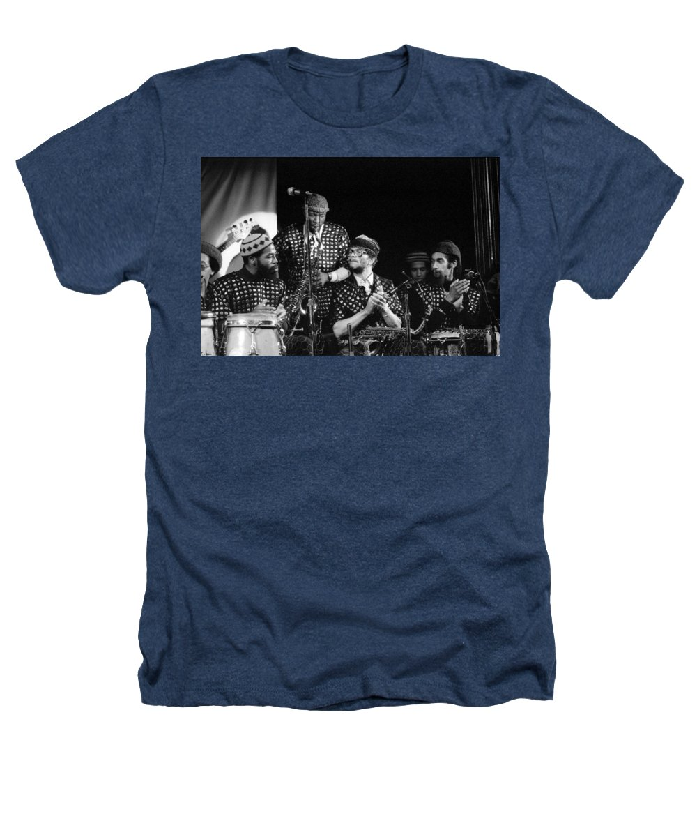 Jazz Heathers T-Shirt featuring the photograph Sun Ra Arkestra With John Gilmore by Lee Santa