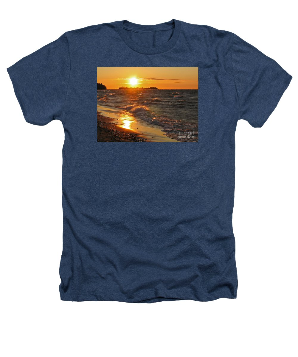 Sunset Heathers T-Shirt featuring the photograph Superior Sunset by Ann Horn