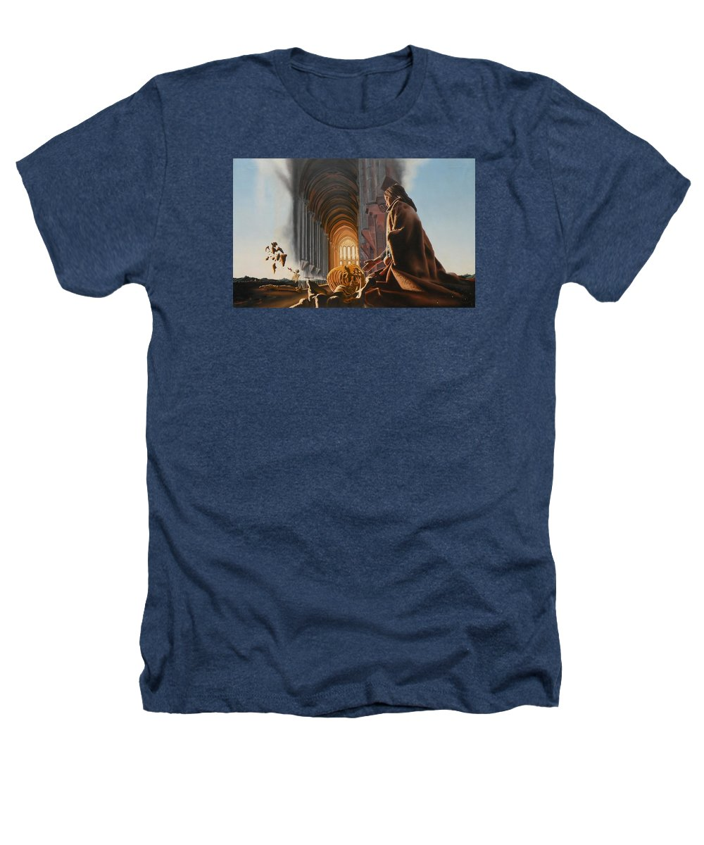 Surreal Heathers T-Shirt featuring the painting Surreal Cathedral by Dave Martsolf