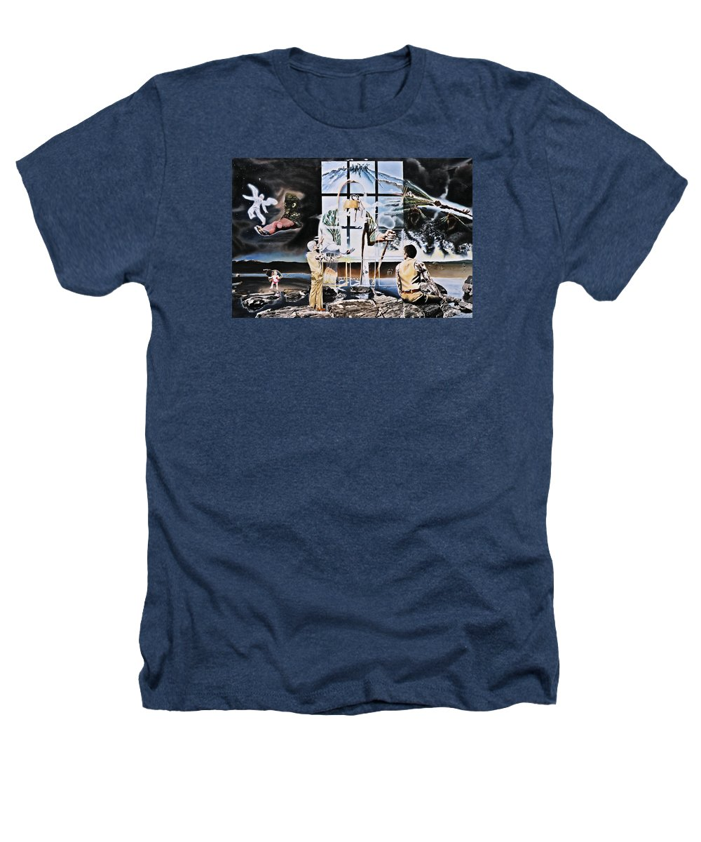Surreal Heathers T-Shirt featuring the painting Surreal Windows Of Allegory by Dave Martsolf