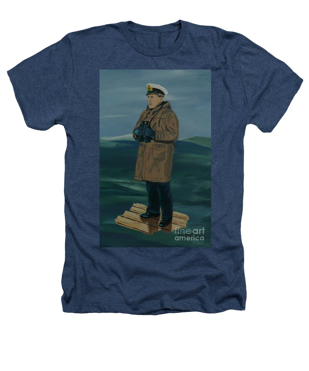 Captain Heathers T-Shirt featuring the painting The Captain by Anthony Dunphy