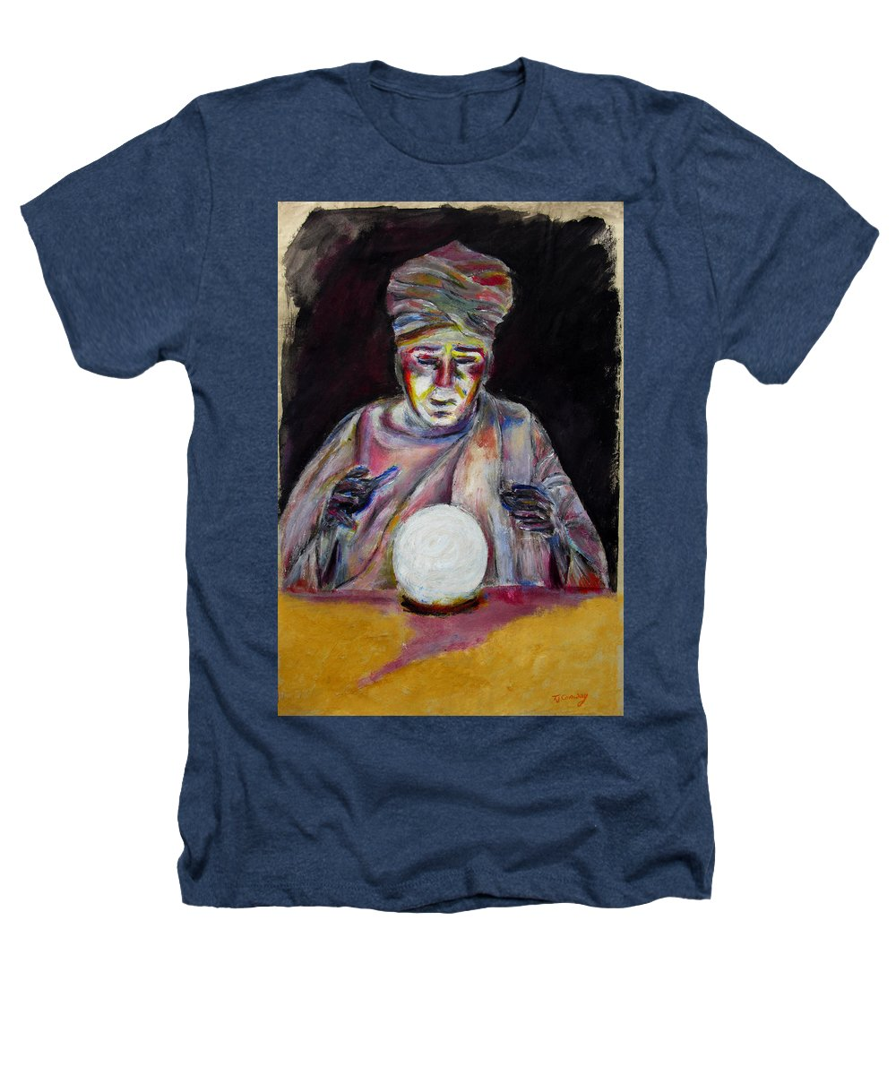 Fortune Tellers Heathers T-Shirt featuring the painting The Fortune Teller by Tom Conway