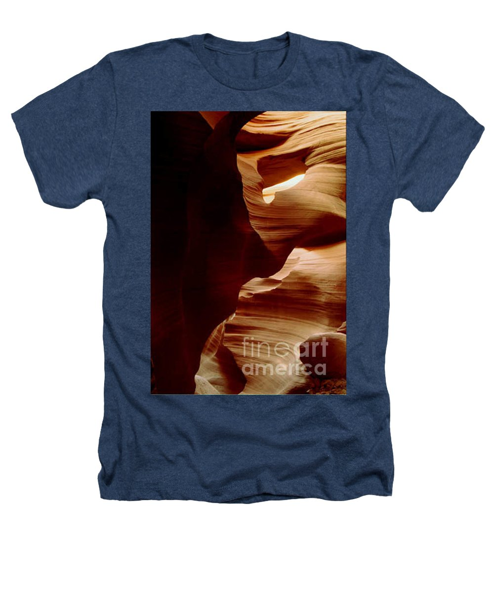 Landscape Heathers T-Shirt featuring the photograph The Heart Of Antelope Canyon by Kathy McClure