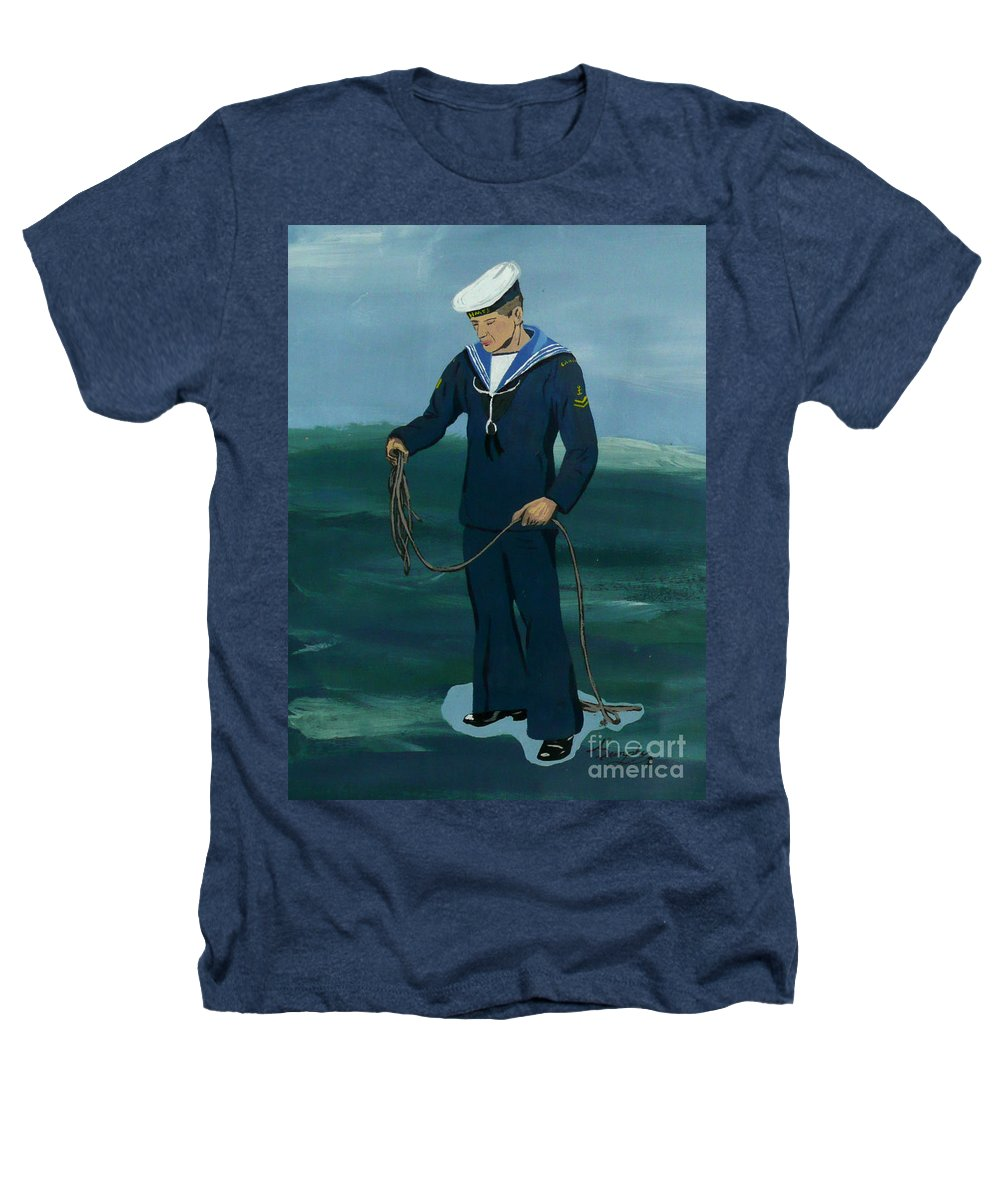 Sailor Heathers T-Shirt featuring the painting The Sailor by Anthony Dunphy
