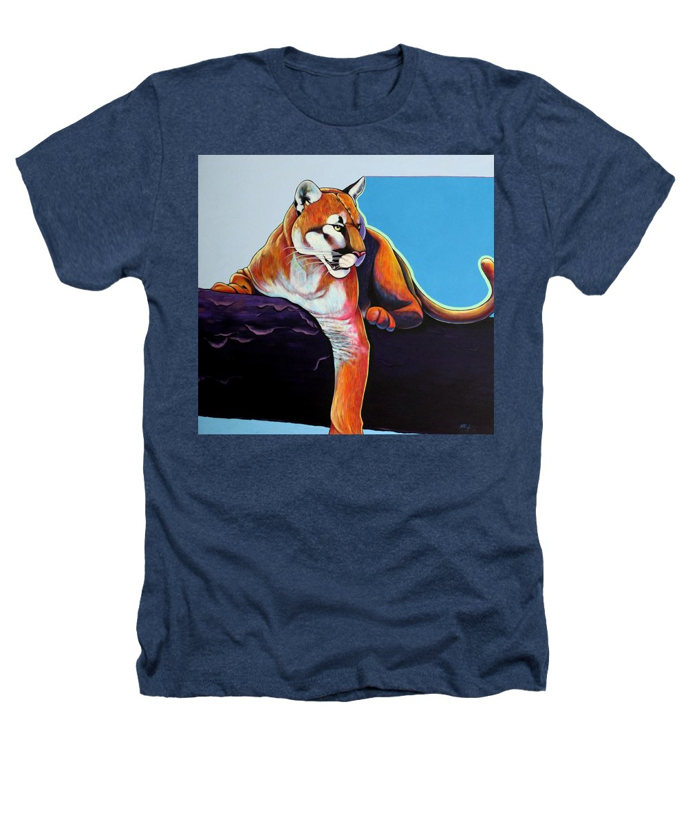 Wildlife Heathers T-Shirt featuring the painting The Toll Collector by Joe Triano