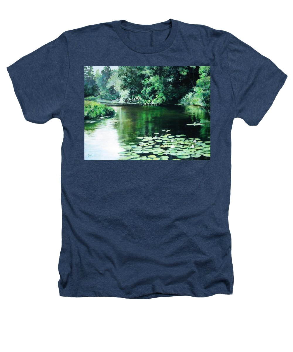 Landscape Heathers T-Shirt featuring the painting Their Spot by William Brody
