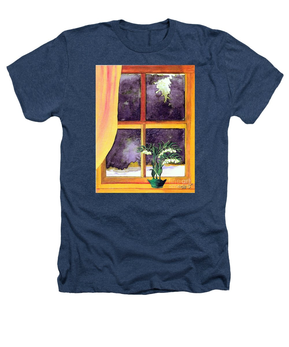 Fine Art Heathers T-Shirt featuring the painting Through The Window by Patricia Griffin Brett