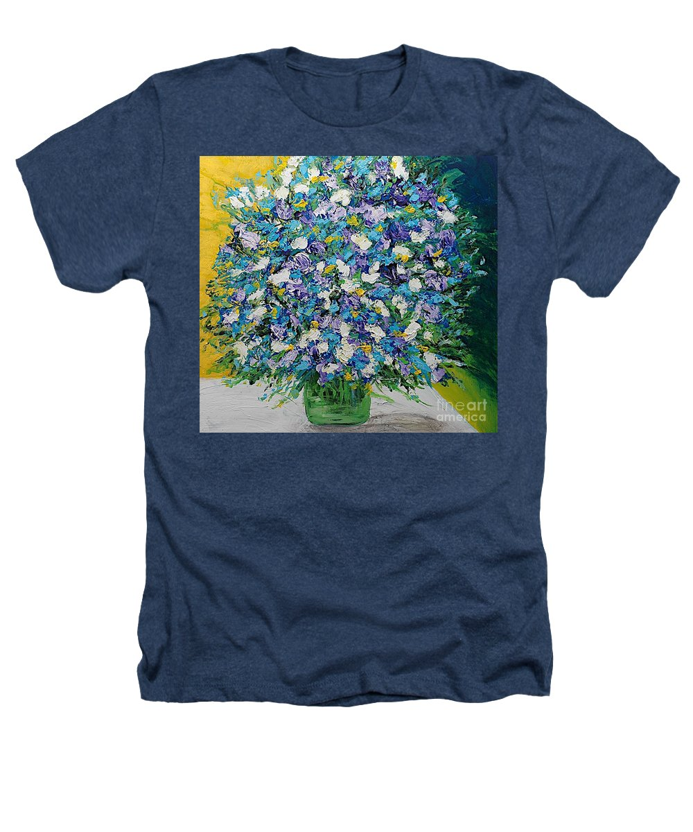 Landscape Heathers T-Shirt featuring the painting To Have And Delight by Allan P Friedlander