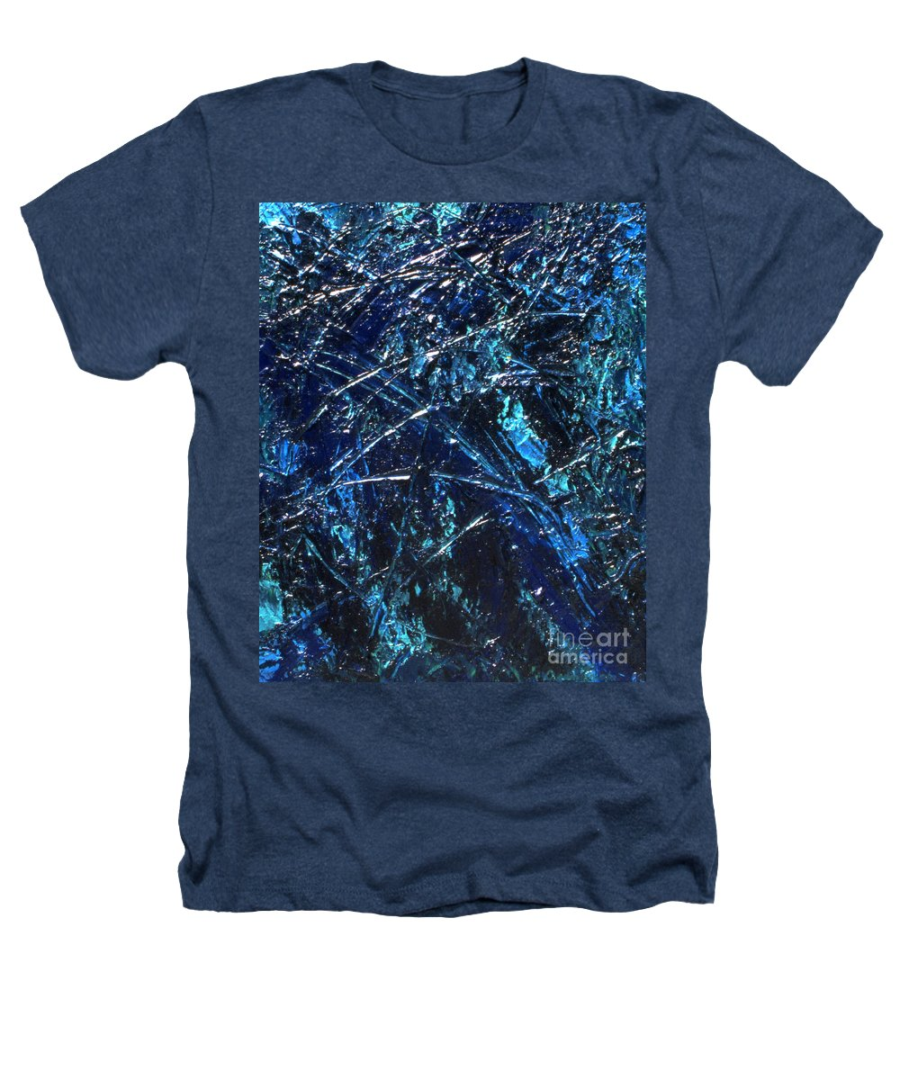 Abstract Heathers T-Shirt featuring the painting Transitions I by Dean Triolo