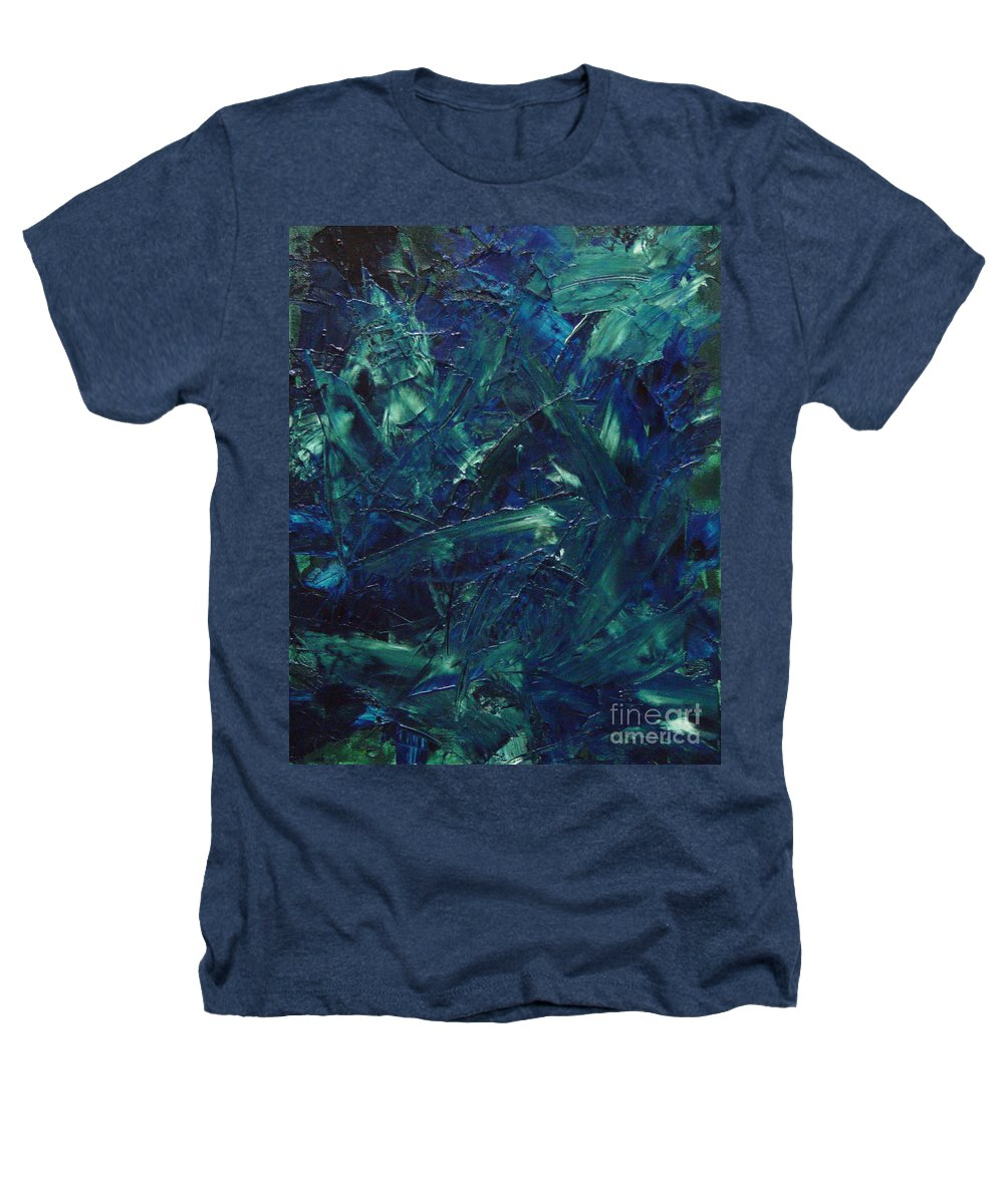 Abstract Heathers T-Shirt featuring the painting Transtions Xi by Dean Triolo
