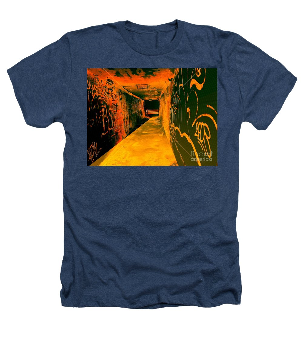 Tunnel Heathers T-Shirt featuring the photograph Under The Bridge by Ze DaLuz