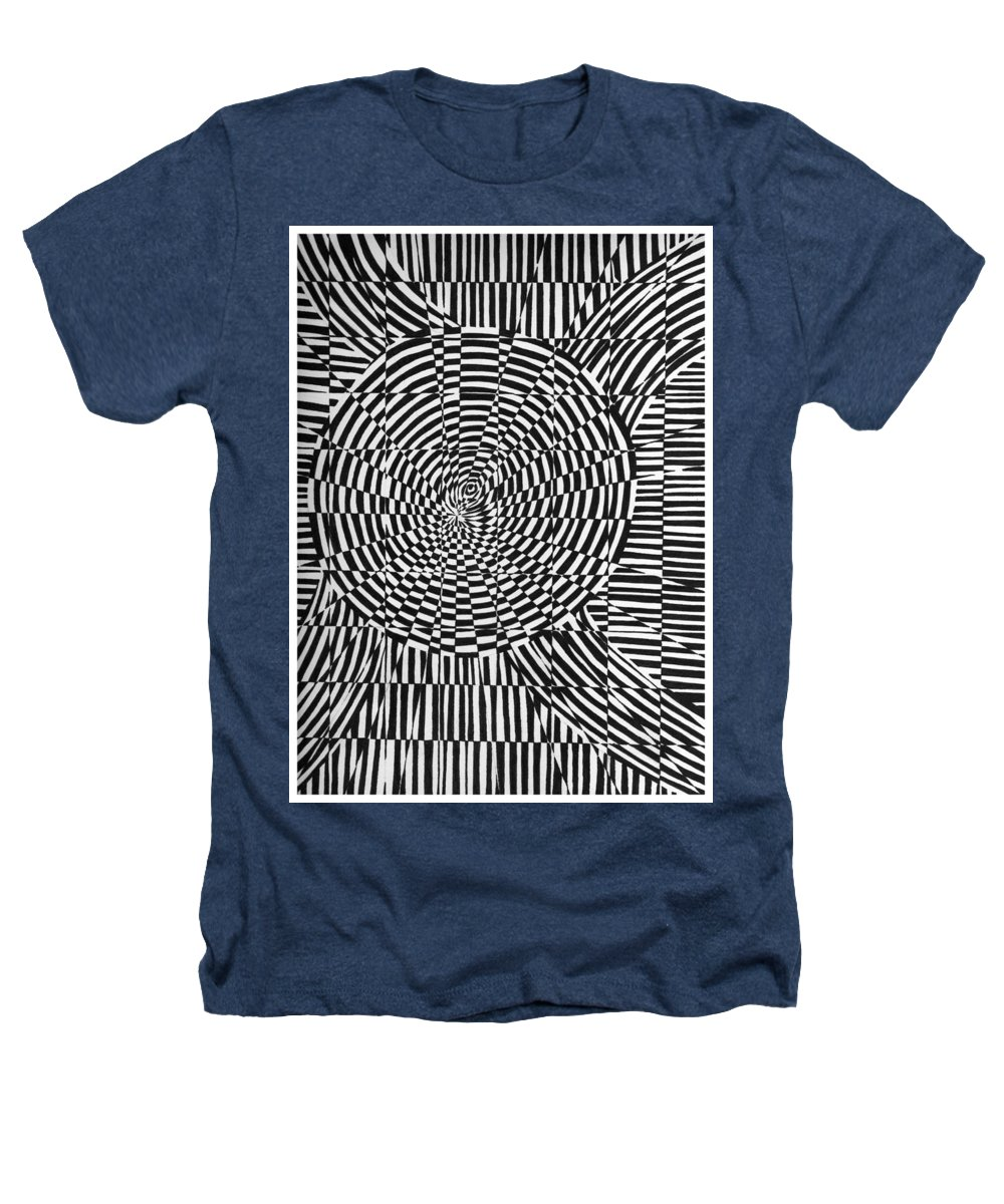 Abstract Heathers T-Shirt featuring the drawing Unraveled by Crystal Hubbard