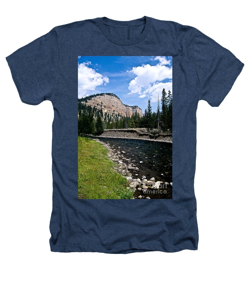 Landscape Heathers T-Shirt featuring the photograph Upriver In Washake Wilderness by Kathy McClure