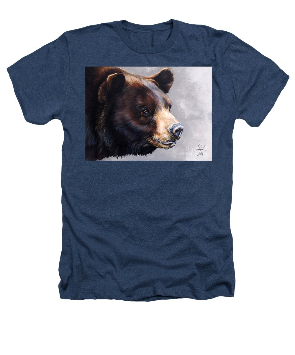 Bear Heathers T-Shirt featuring the painting Ursa Major by J W Baker