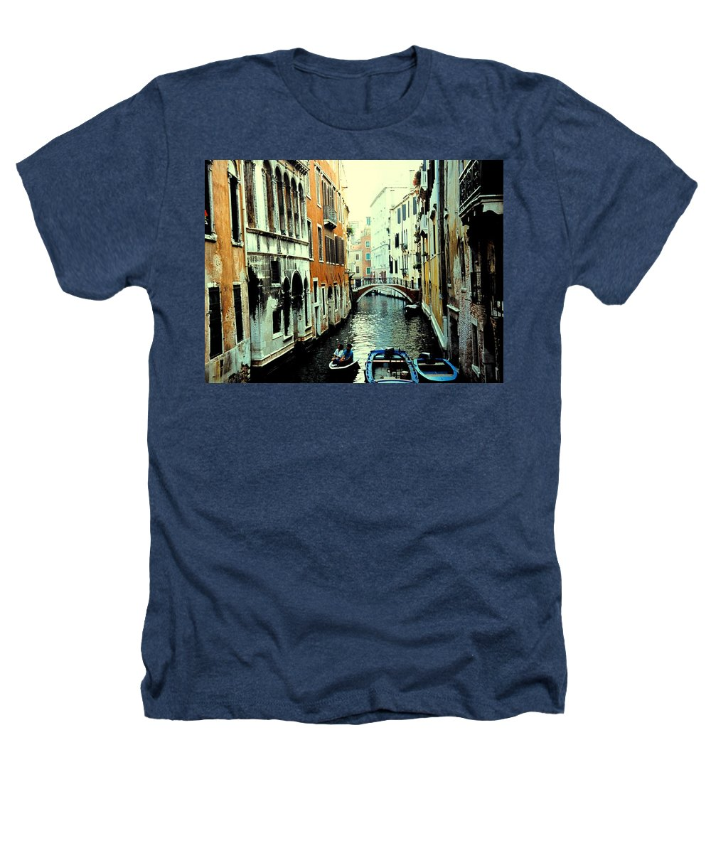 Venice Heathers T-Shirt featuring the photograph Venice Street Scene by Ian MacDonald