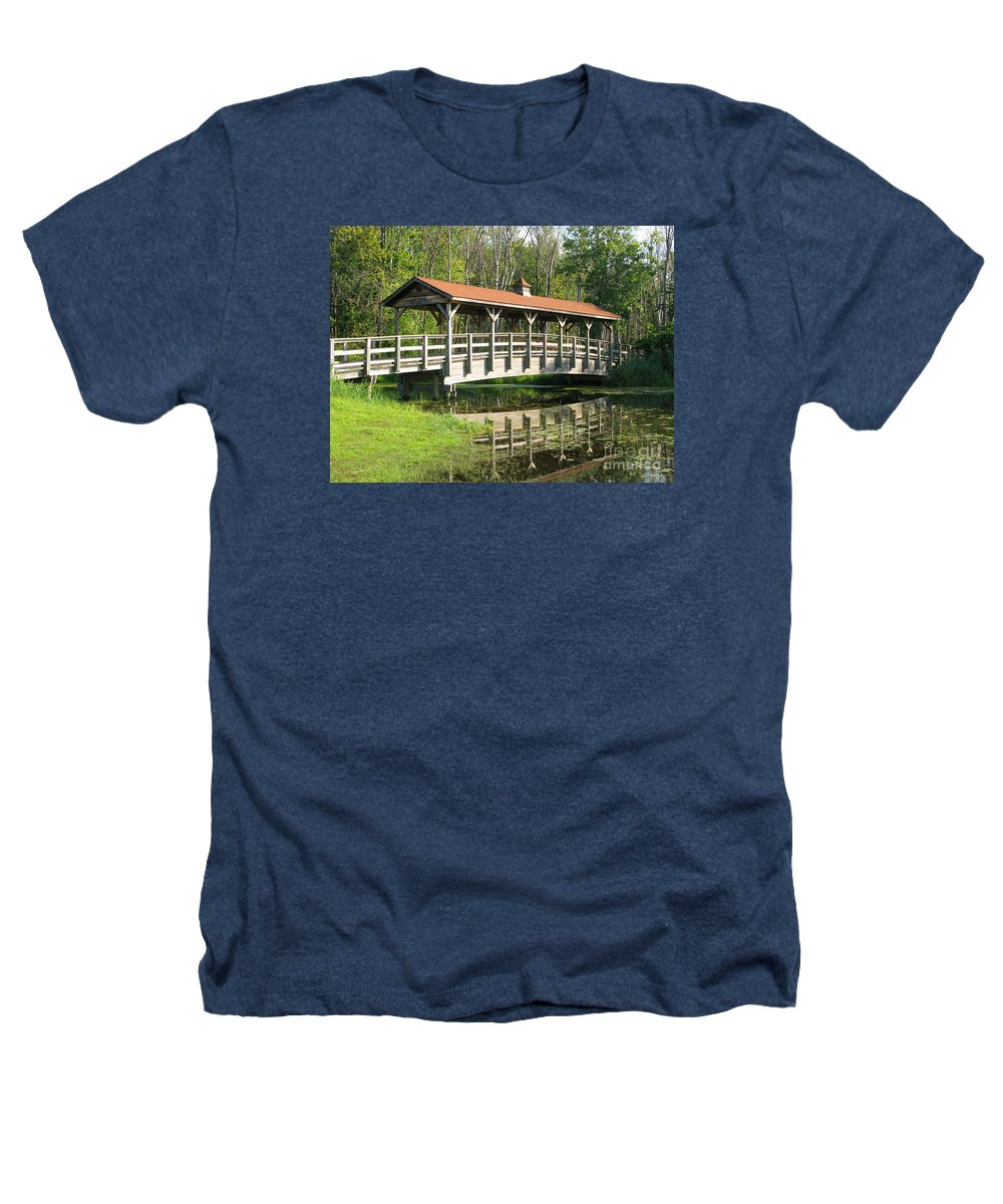 Bridge Heathers T-Shirt featuring the photograph Wetland Footbridge by Ann Horn