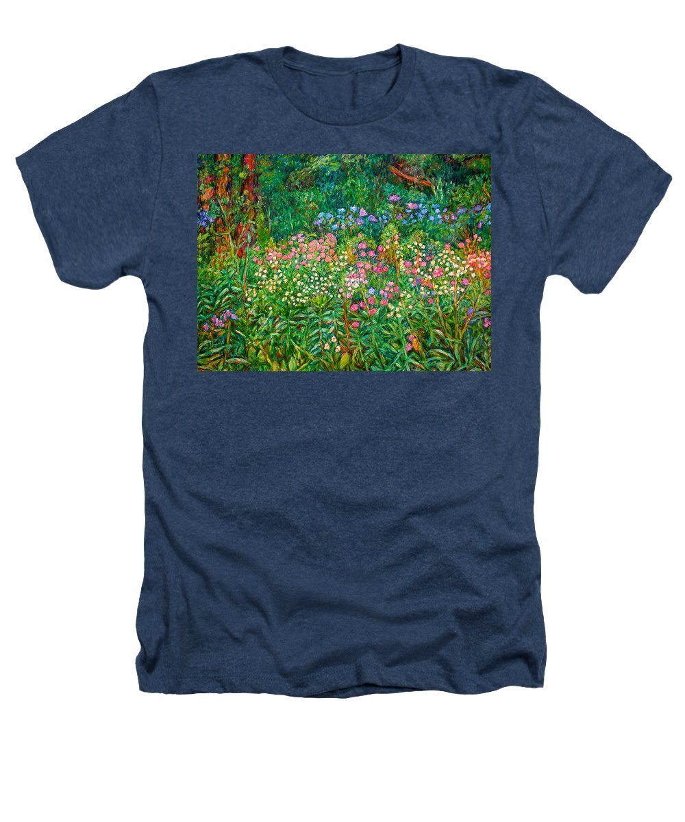 Floral Heathers T-Shirt featuring the painting Wildflowers Near Fancy Gap by Kendall Kessler