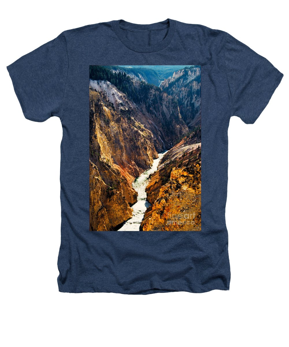 Yellowstone Heathers T-Shirt featuring the photograph Yellowstone River by Kathy McClure