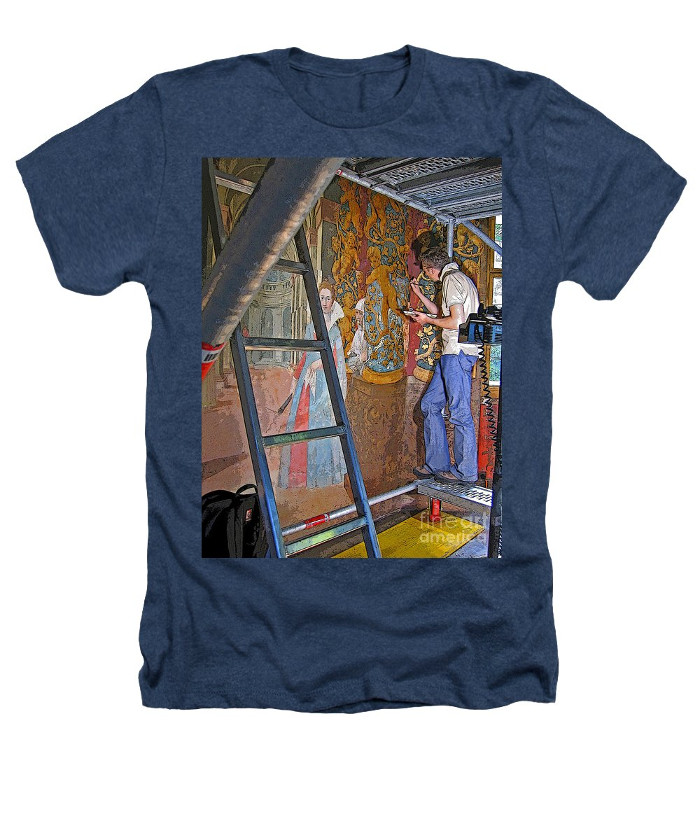 Art Heathers T-Shirt featuring the photograph Restoring Art by Ann Horn