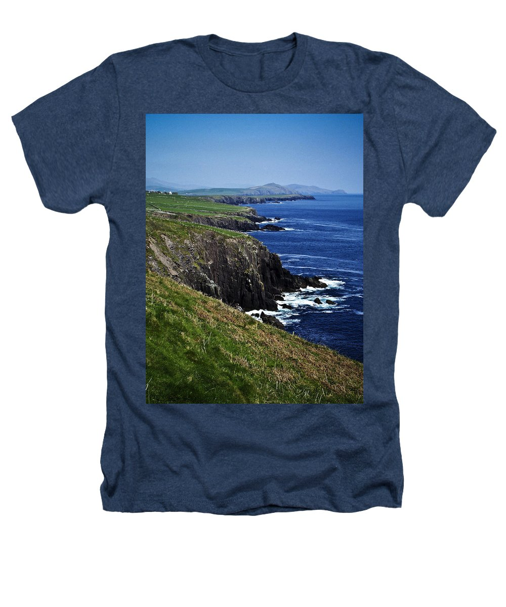 Irish Heathers T-Shirt featuring the photograph Dingle Coastline Near Fahan Ireland by Teresa Mucha