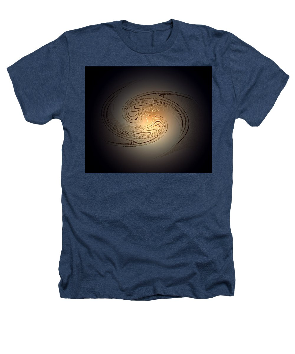 Swirl Heathers T-Shirt featuring the digital art In The Beginning by Don Quackenbush