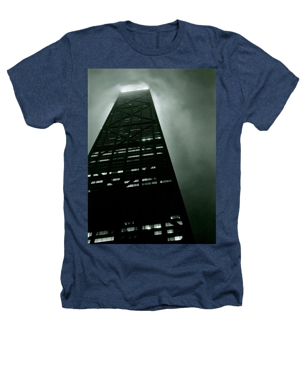 Geometric Heathers T-Shirt featuring the photograph John Hancock Building - Chicago Illinois by Michelle Calkins