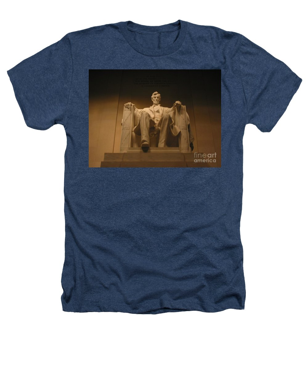 Abraham Lincoln Heathers T-Shirt featuring the painting Lincoln Memorial by Brian McDunn