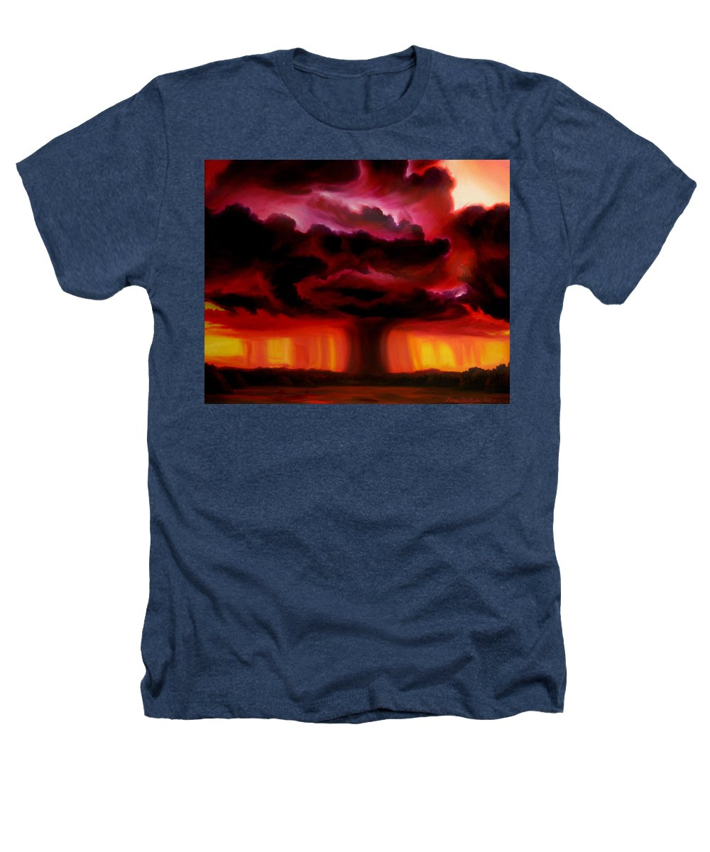 Skyscape Heathers T-Shirt featuring the painting Microburst by James Christopher Hill