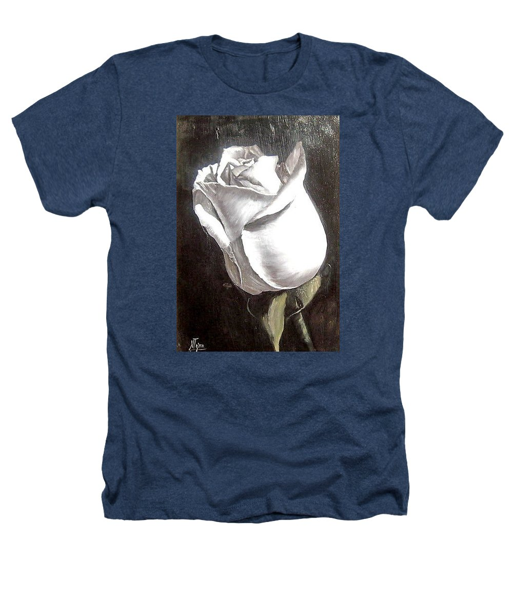 Flower Rose Still Life Heathers T-Shirt featuring the painting Rose 2 by Natalia Tejera