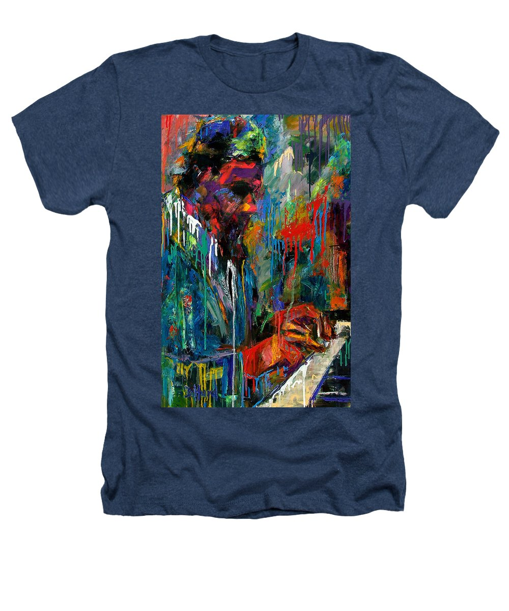 Painting Heathers T-Shirt featuring the painting Round Midnight by Debra Hurd