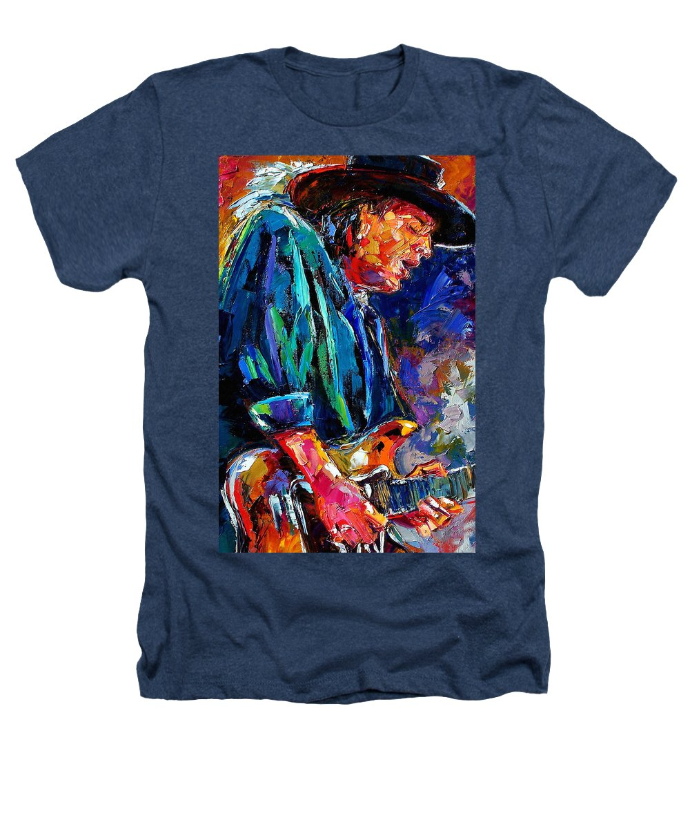 Stevie Ray Vaughan Heathers T-Shirt featuring the painting Stevie Ray Vaughan by Debra Hurd