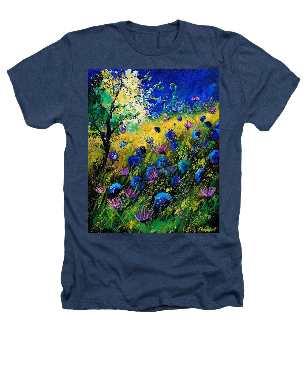 Poppies Heathers T-Shirt featuring the painting Summer 450208 by Pol Ledent