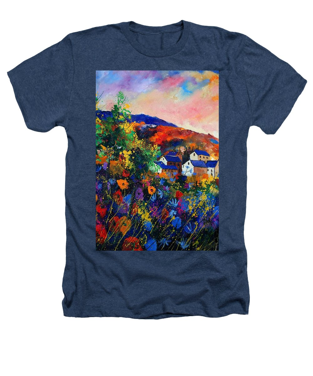 Landscape Heathers T-Shirt featuring the painting Summer by Pol Ledent