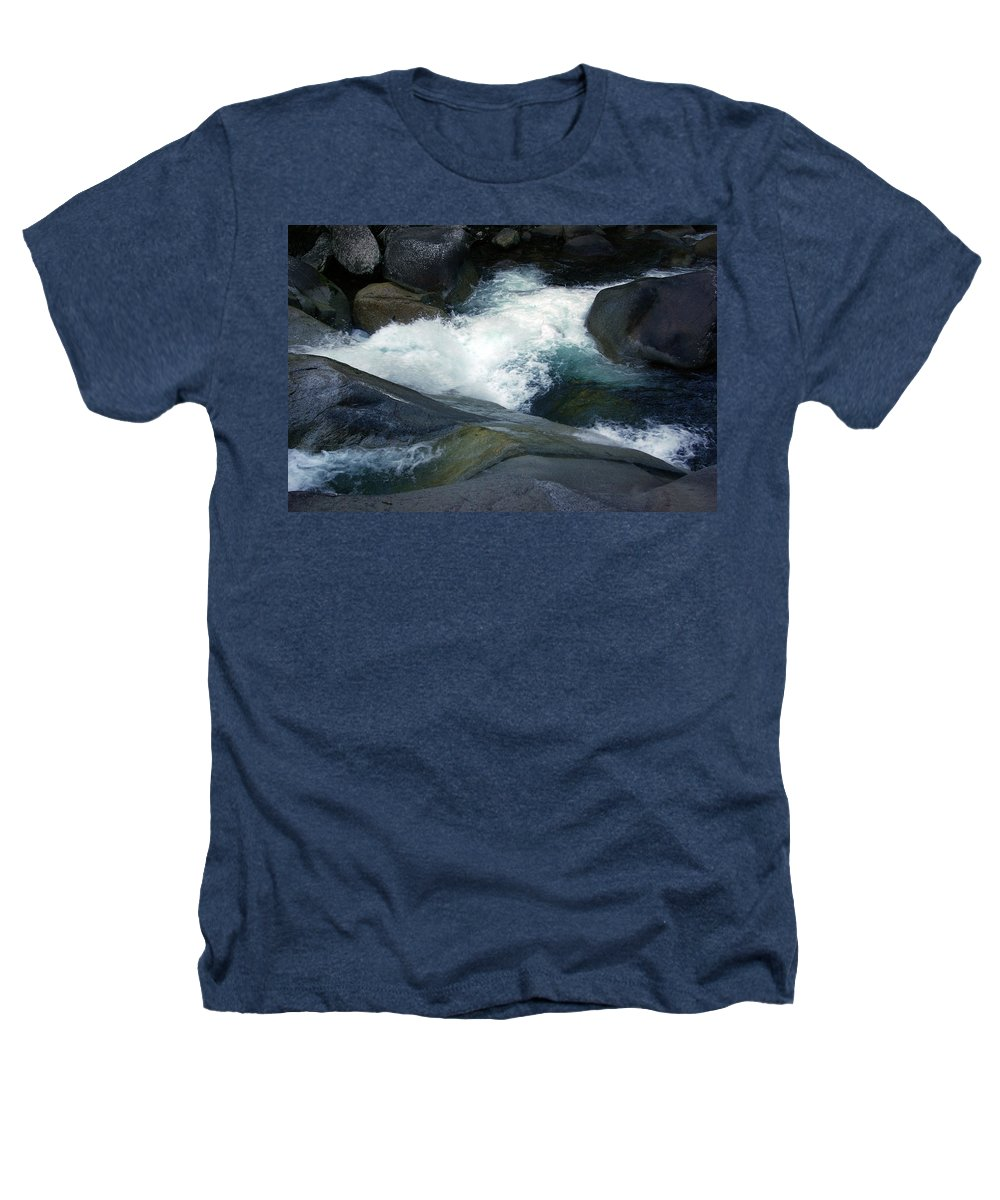 Fineart Heathers T-Shirt featuring the photograph Tropical Flowing Waters Josephine Falls by Kerryn Madsen- Pietsch