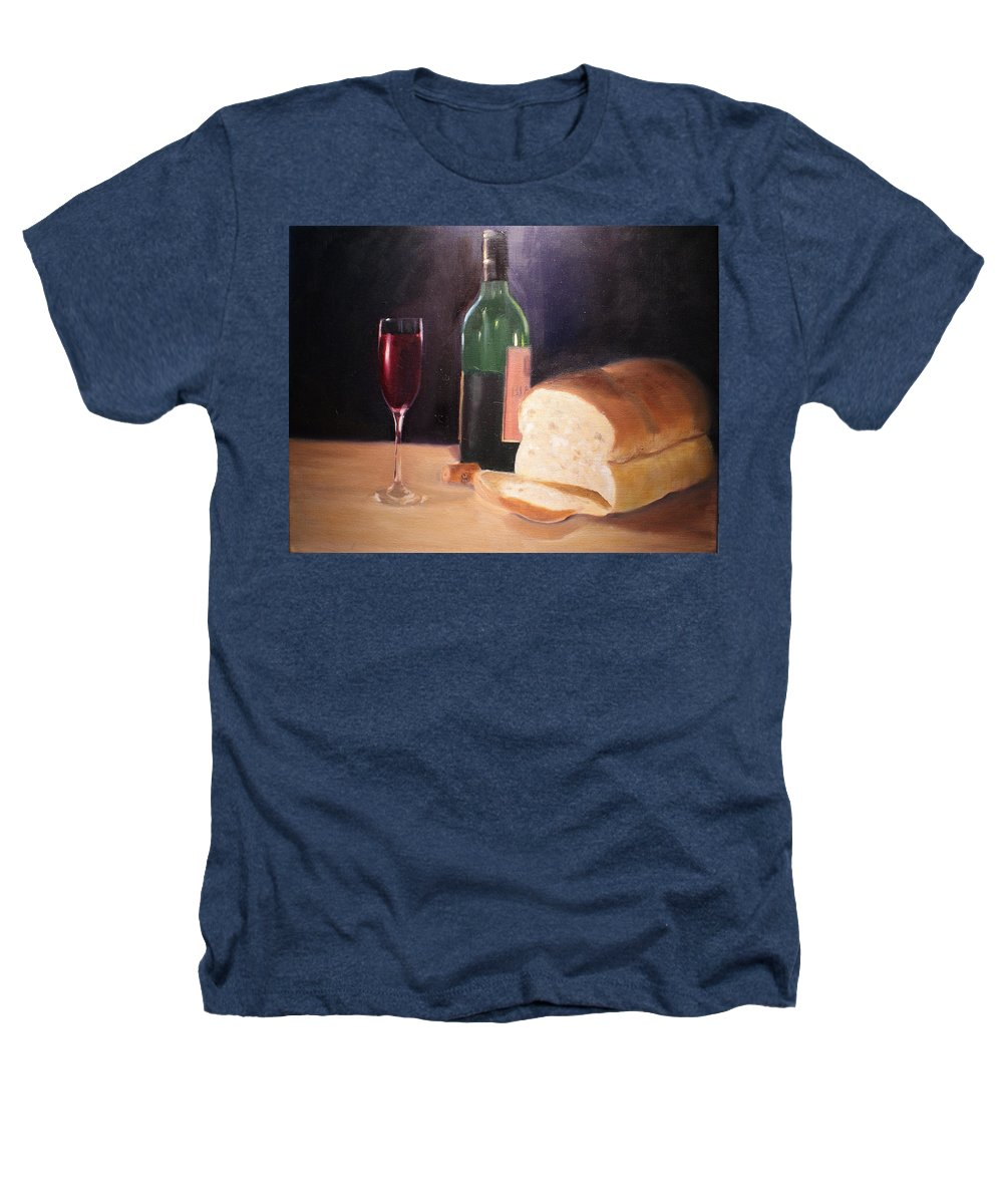 Wine Heathers T-Shirt featuring the painting Untitled by Toni Berry