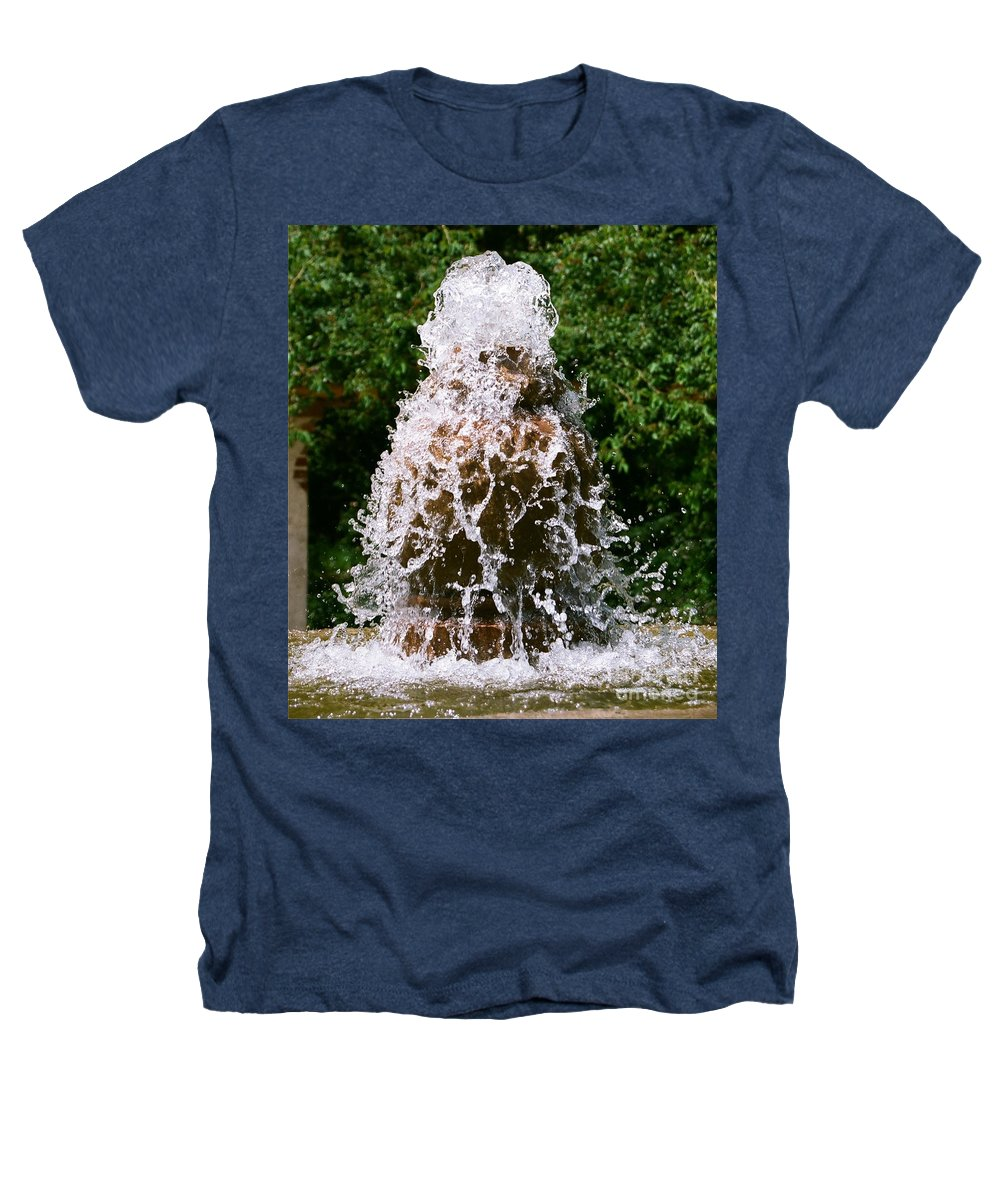 Water Heathers T-Shirt featuring the photograph Water Fountain by Dean Triolo