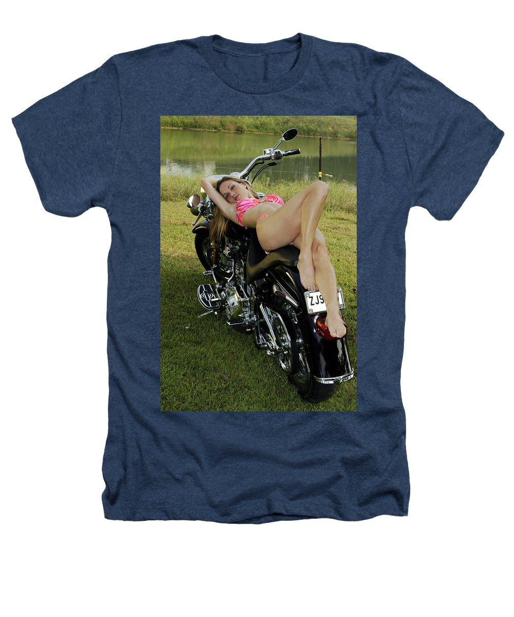 Heathers T-Shirt featuring the photograph Bikes And Babes by Clayton Bruster