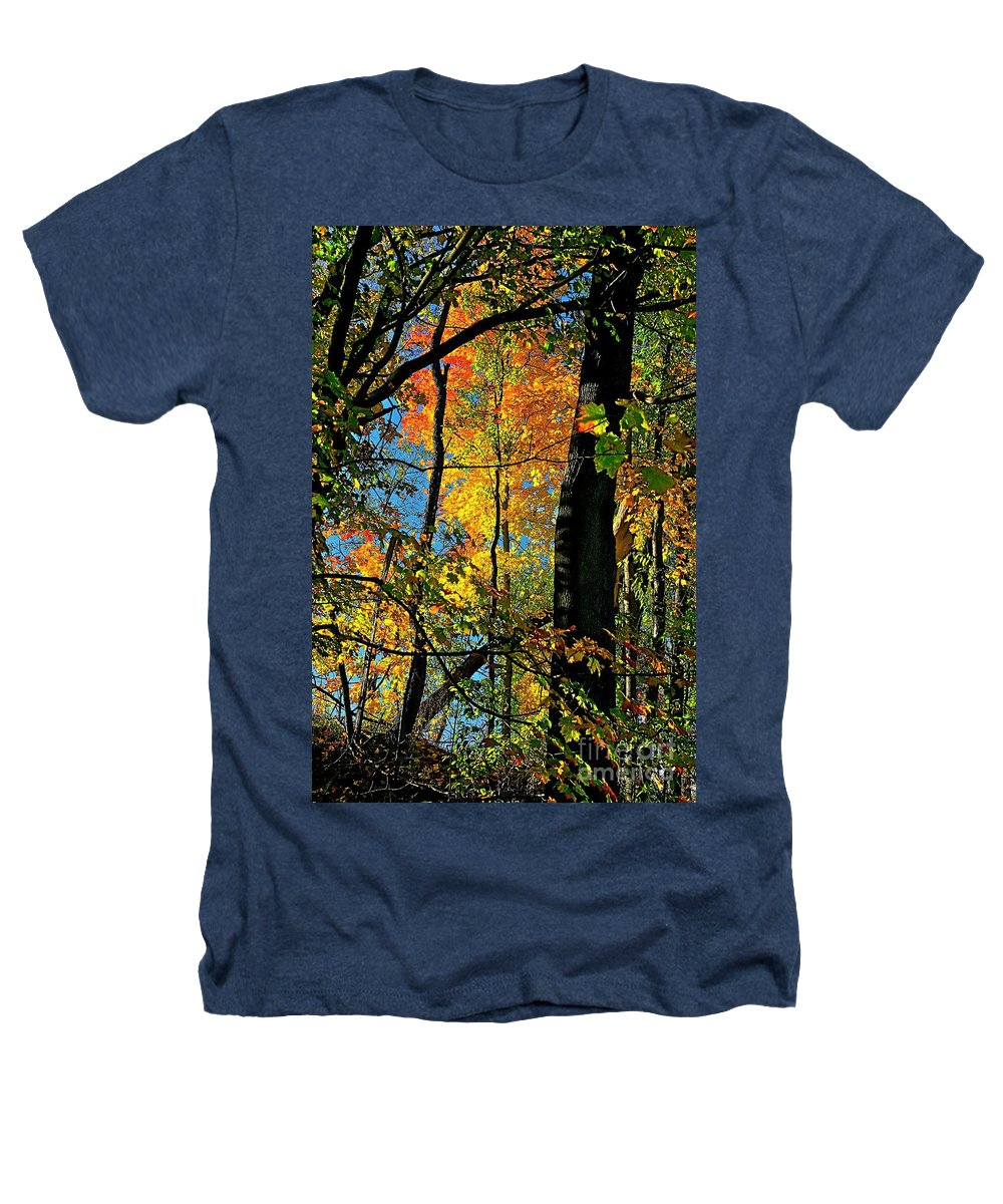 Fall Heathers T-Shirt featuring the photograph Fall Fire Works by Robert Pearson
